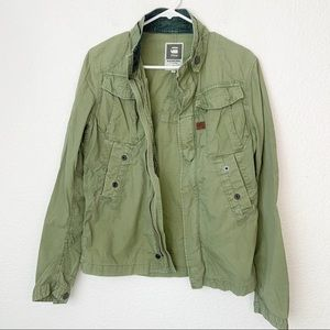 G-Star Raw Green Shirt Jacket Small